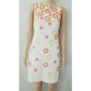Trina Turk White Embroidered Floral Dress Size 2